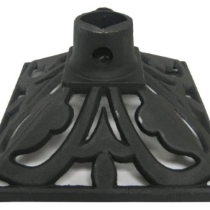 TIKI 1312131 9-Inch by 9-Inch Cast Iron Torch Stand