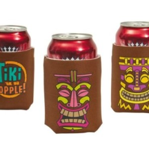 12 Tiki Art Beer Can Bar Koozies/insulators