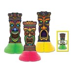 Tiki Playmates (3 place cards included) Party Accessory  (1 count) (3/Pkg)