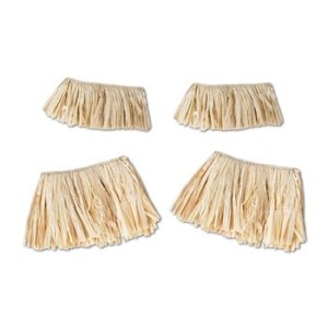Raffia Arm & Leg Ties (natural) Party Accessory  (1 count) (4/Pkg)