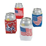 Patriotic Can Covers - Tableware & Soda Can Covers