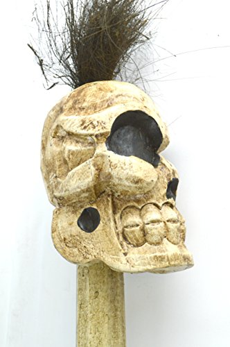 Amazing filigree hand carved wooden sculpture wood skull flexible
