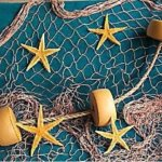 6 X 8 Fishing Net, Fish Netting, Floats, Starfish, Rope, Nautical Decor, Fish Net