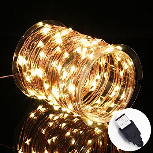Innotree usb led starry string lights warm white waterproof decorativ innotree usb led starry string lights warm white waterproof decorative rope lights for indoor outdoor bedroom patio garden party wedding commercial aloadofball Image collections