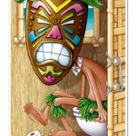 Tiki Man Restroom Door Cover Party Accessory (1 count) (1/Pkg)