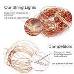 Innotree USB LED Starry String Lights Warm White, Waterproof Decorative Rope Lights for Indoor Outdoor Bedroom Patio Garden Party Wedding Commercial Lighting [33Ft Copper Wire, 100 LED Bulbs]