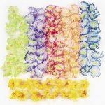 12 Hawaiian Luau Jumbo Silk Flower Leis Tropical Party