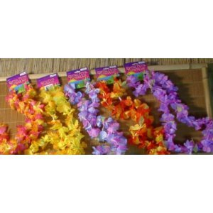 Fun express 12 hawaiian ruffled simulated silk flower leis novelty 1 fun express 12 hawaiian ruffled simulated silk flower leis novelty 1 dozen mightylinksfo