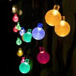 Voilio Solar String Lights 30 Led [8-Function Control] 21.3 Feet(6.5m)Crystal Ball Decorative Lights-Multi Color