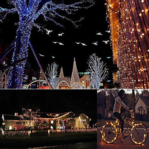 String Lights Led Lights Fairy Lights Xmas Lights Outdoor Lights 100 Leds 33 Feet Copper Wire Warm White Outdoor Decor Lighting For Bedroom