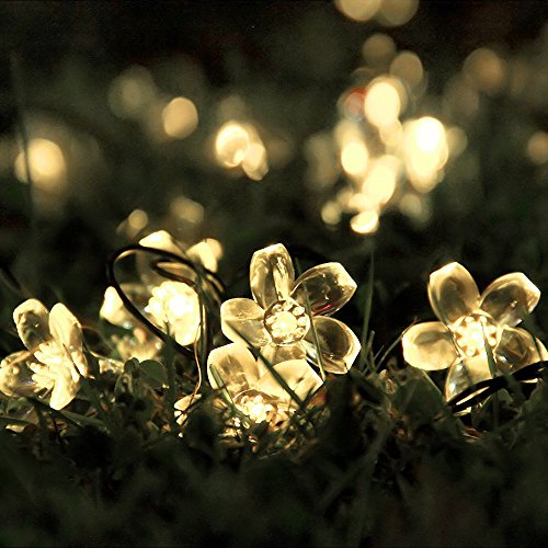 Innoo tech outdoor solar string lights 21ft 50 led blossom flower fair innoo tech outdoor solar string lights 21ft 50 led blossom flower fairy light for garden patio wedding party bedroom christmas decoration warm white mightylinksfo
