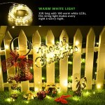 Cymas Outdoor String Lights 100 LED Solar Christmas Fairy lighting Decorative Light [33ft , 2 Packs]