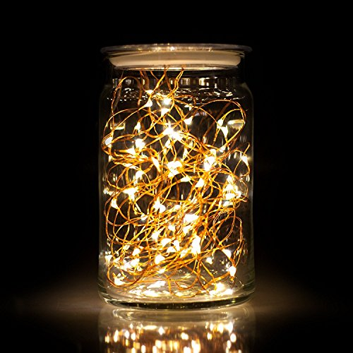 Ecolight 10 Pack Led String Lights Battery Operated 6 6ft 2m 20leds Warm White Fairy Moon Starry For Wedding Centerpiece Dinner Party