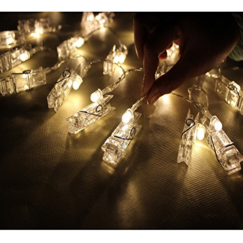 Perfect Holiday String Lights : LED Photo Clip String Lights Battery Powered,Perfect Room Decoration/C