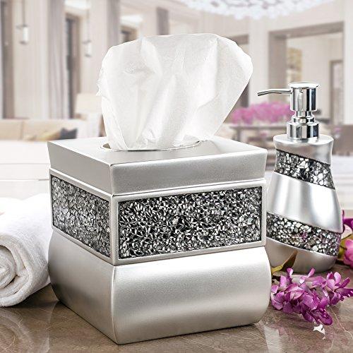Creative scents tissue box cover square decorative tissue for Mosaic bathroom decor