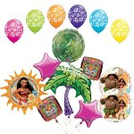 The Ultimate 15pc Moana Tropical Party Supplies and Balloon Decorations