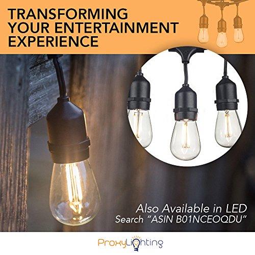 Proxy Lighting 48 Foot Weatherproof, Proxy Lighting 48 Foot Weatherproof Outdoor String Lights