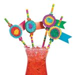 Fun Express Fiesta Party Paper Straws - 24 pieces
