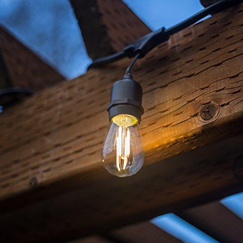 48 FT LED Outdoor String Lights By Proxy Lighting U2013 UL Listed U2013 15 Hanging  Sockets U2013 Perfect Patio Lights U2013 2 Watt Dimmable LED Bulbs