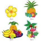BESTOMZ Hawaiian Decorations Hanging Swirls for Luau Party Favor- 30 Pack