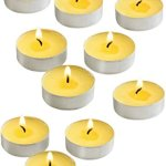 100 Citronella Oil Wax Tealight Candles Bulk - Summer Yellow - Outdoor Indoor - MADE IN USA