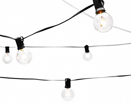 Deneve Globe String Lights with G40 Bulbs (25ft.) - Connectable Outdoo