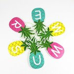 SUNBEAUTY 1.5m Colorful Summer Pineapple Banner Luau Tiki Party Supplies Hawaiian Theme Decor