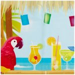 Amscan Sun-Sational Summer Luau Tropical Tiki Scene Setters Decoration (5 Piece), Multi Color, 17.8 x 11.8""