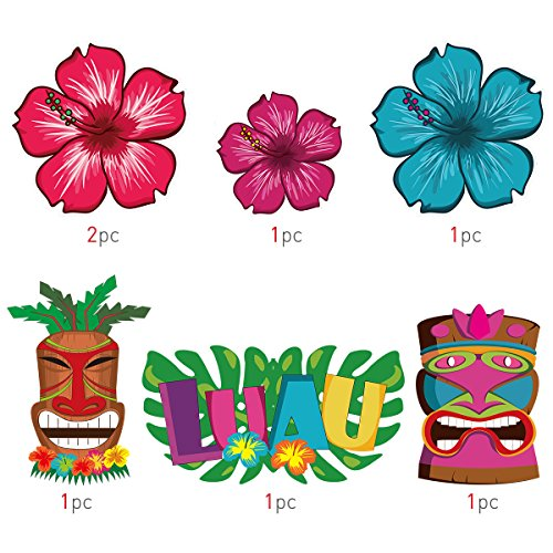 Гирлянды из бумаги для гавайской вечеринки своими руками 70